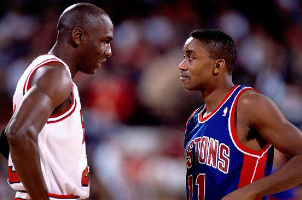 Isiah-Thomas-and-Michael-Jordan