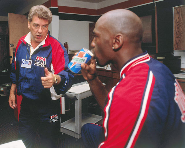 Chuck Daly and Michael Jordan